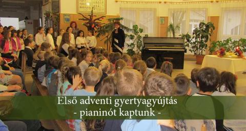 1. adventi gyertyagyújtás